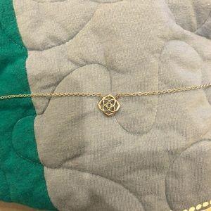 Silver Kendra Scott Logo Necklace